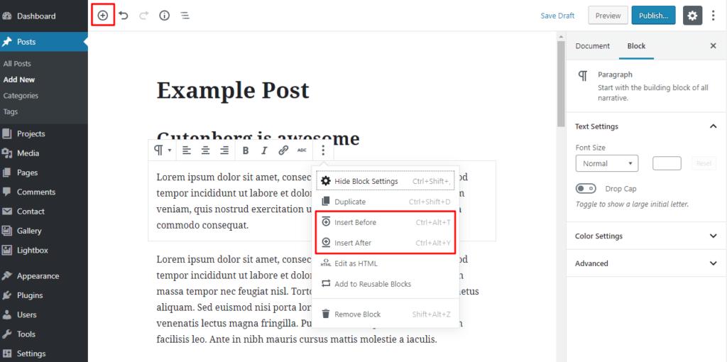 How to add Gutenberg blocks in WordPress.