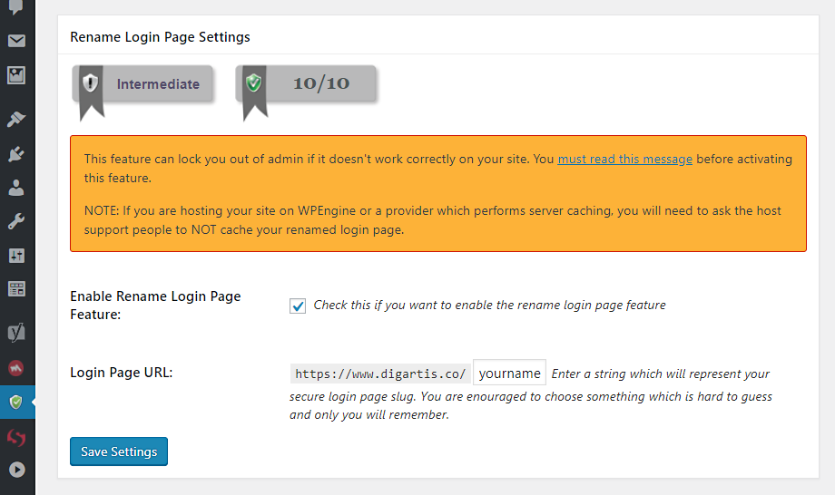 WordPress security - how to change the login page URL