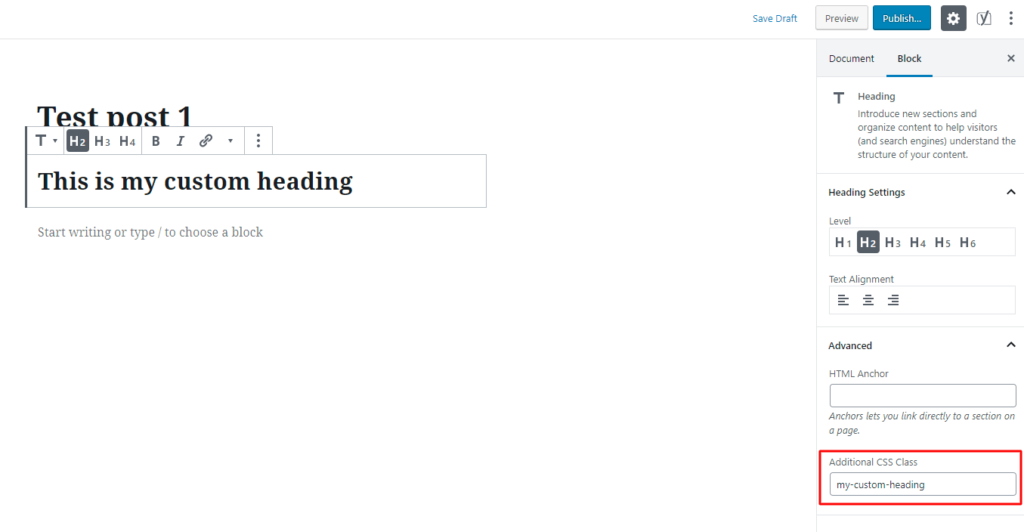 WordPress blog - How to Add Custom Classes to WordPress Gutenberg Blocks.