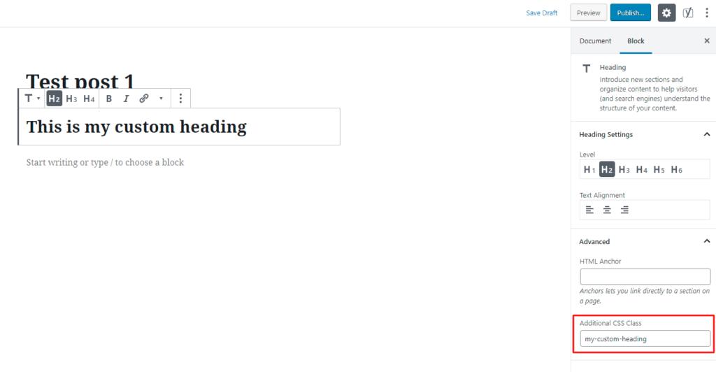How to add HTML classes to Gutenberg blocks in WordPress.