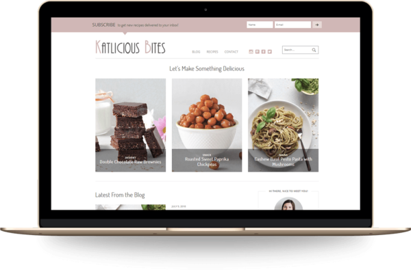 Digartis Portfolio Project - Katlicious Bites WordPress blog