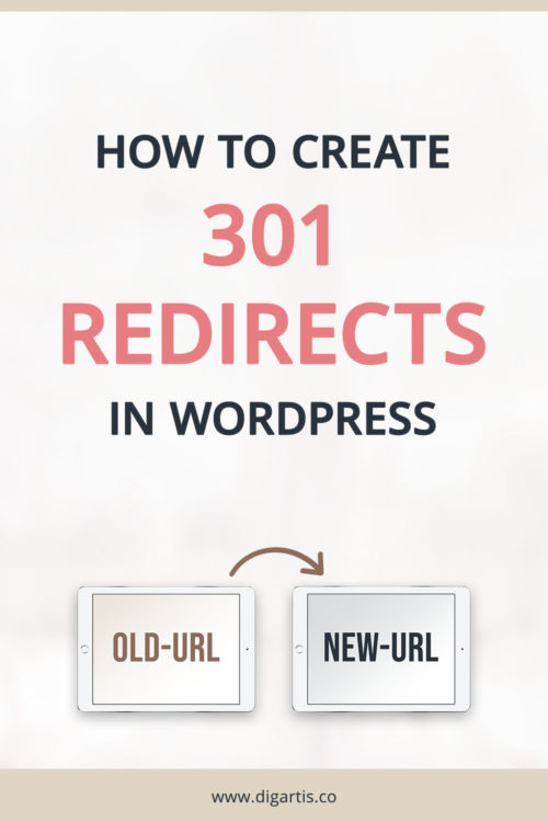 How to create 301 redirects in WordPress