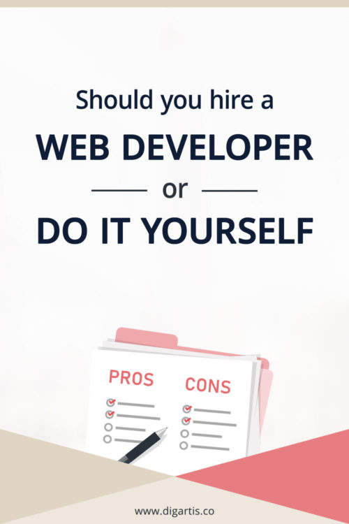 Should you hire a web developer or do it yourself