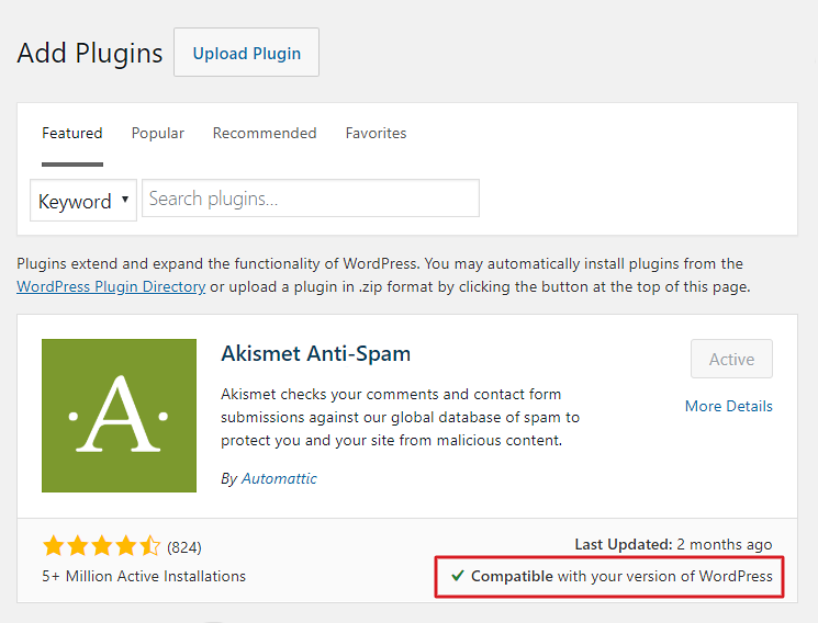 How to check if a WordPress plugin is compatible with current version