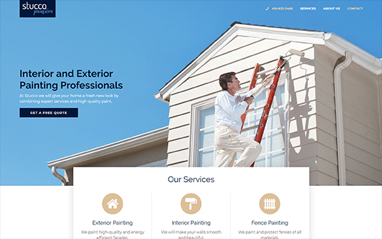 Stucco Painters Website Portfolio Photo