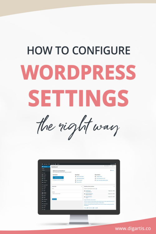 How to configure WordPress settings the right way